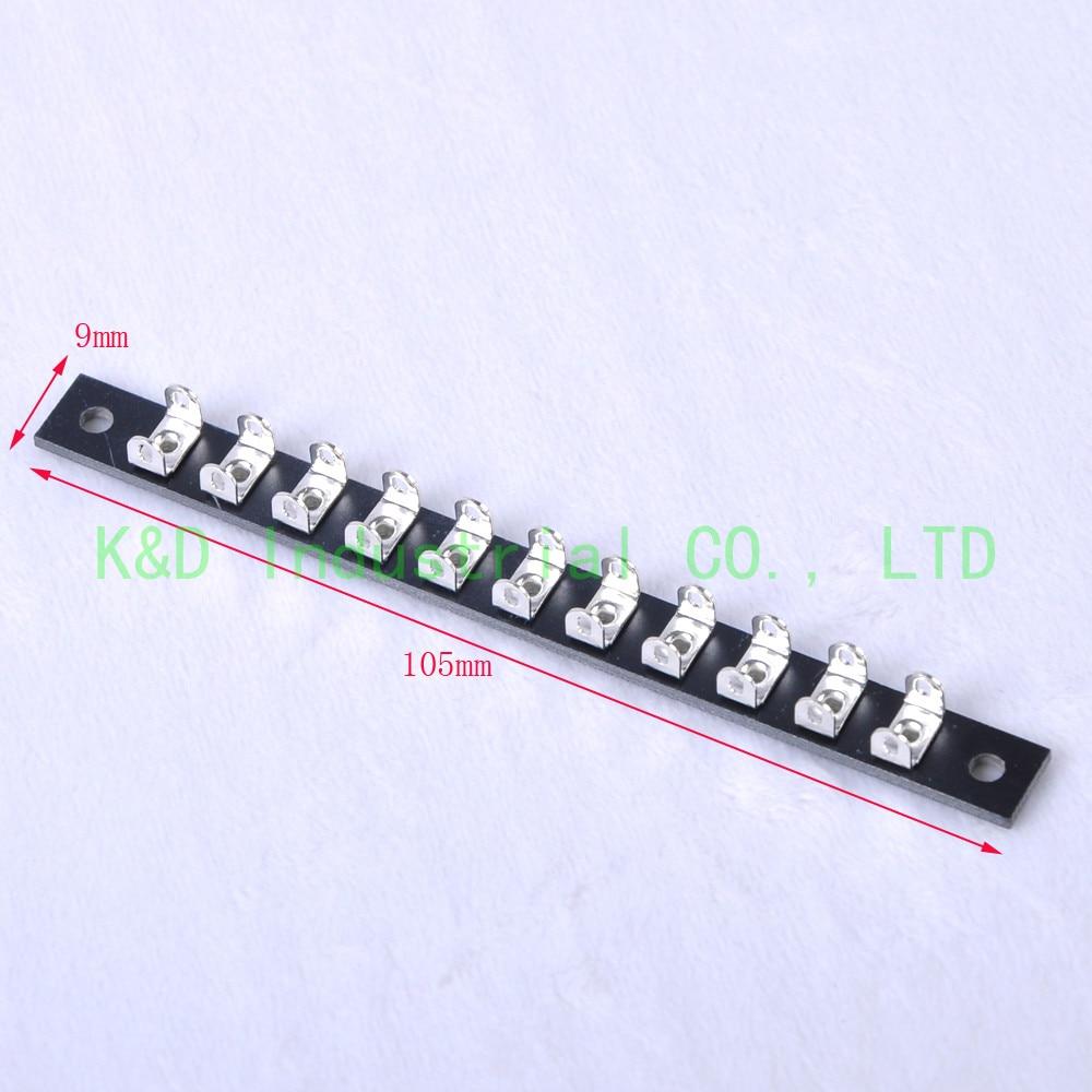 2pcs Turret Terminal Tag Strip Board 11Lug pins Point to Point New Tube Amp DIY socket
