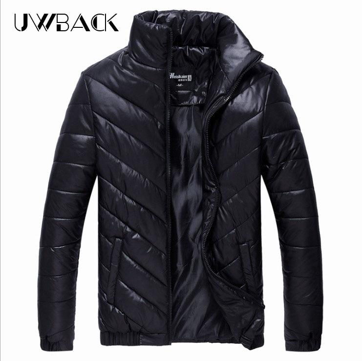 Uwback Winter Jackets Men 2017 Men's Winter Coat Cotton Padded Jacket Black Warm Parkas Hombre Stand Collar Casual Coat 5XL A040