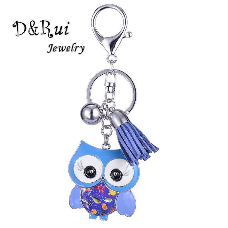 Long Eyelash Owl Key Chains for Women Zinc Alloy Fashion Girl Metal Bird Pendant Keychain Cute Enamel Vintage Jewelery Kids Gift