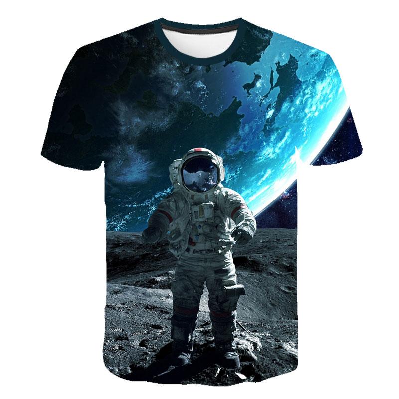 2019 Children T-shirt The Astronauts Space  Child Shirt Girl Short T Shirts Kids Vest Baby Clothes Boy Tops Teens Tee