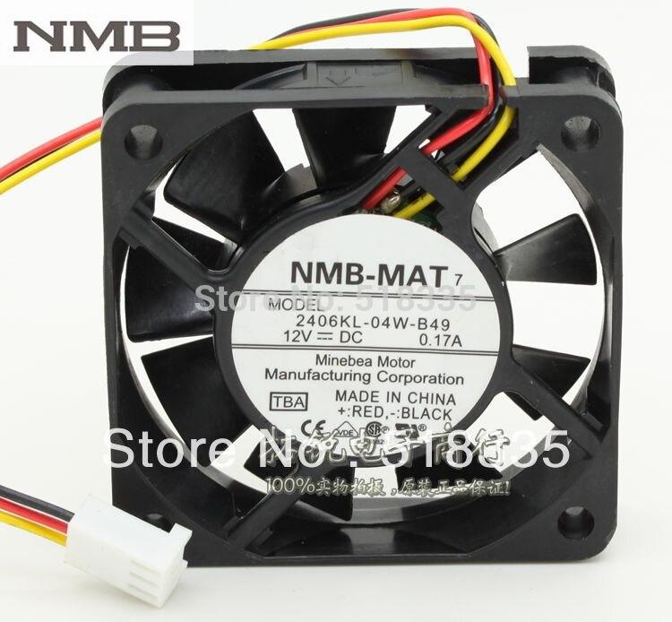 Für NMB 2406kL-04W-B49 6015 6 cm 12 V 0.17A drei-draht alarm server inverter lüfter