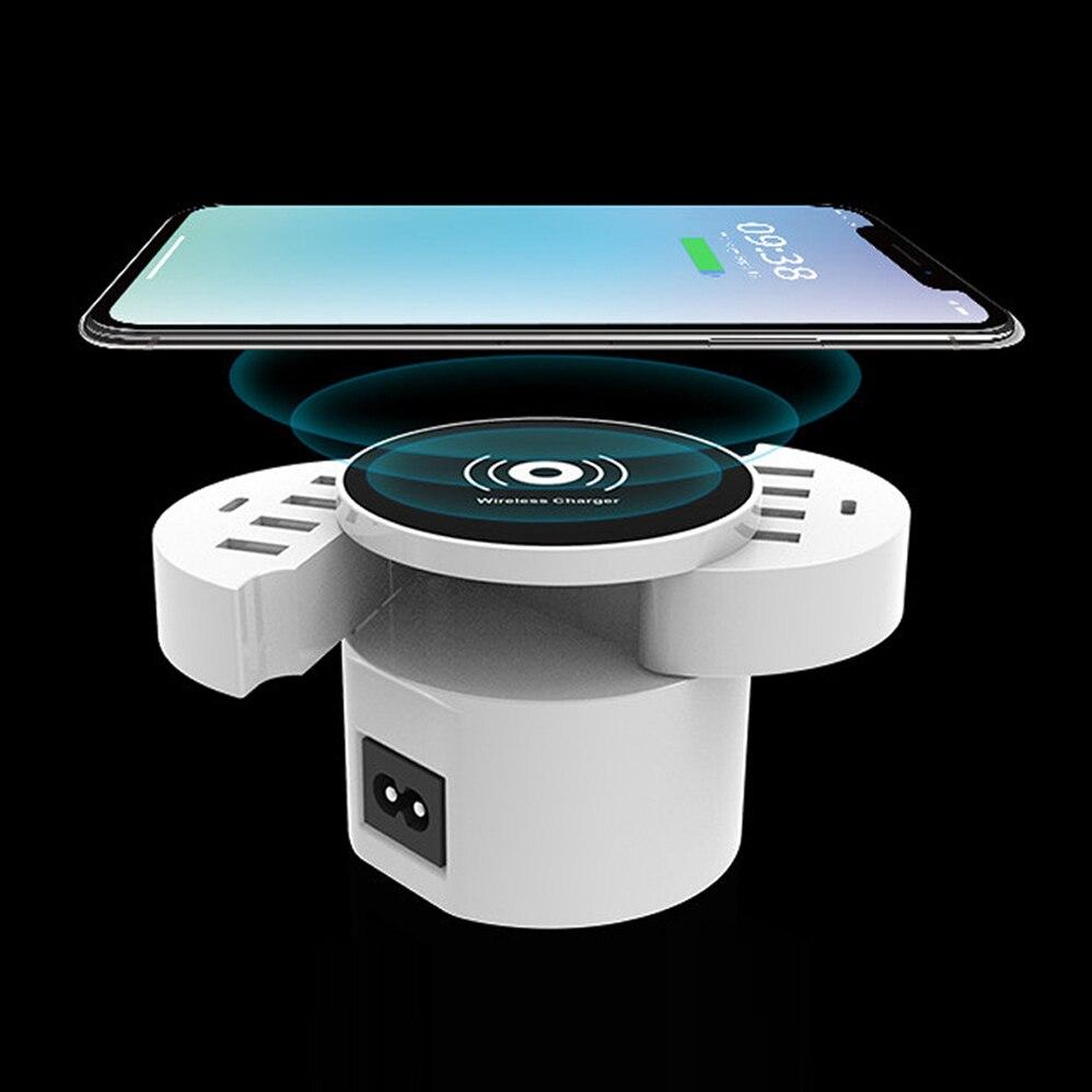QI Drahtlose Ladegerät Für IPhone Samsung Huawei OPPO Xiaomi Tabletten Telefon smart USB Ladegerät 10 Port Wand Ladegerät ladestation