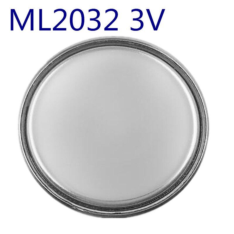 5 unids/lote a estrenar ML2032 ML 2032 3V 65mAh batería recargable de batería de Ion Litio de litio para sistema de alarma GPS avigráfico llave de coche