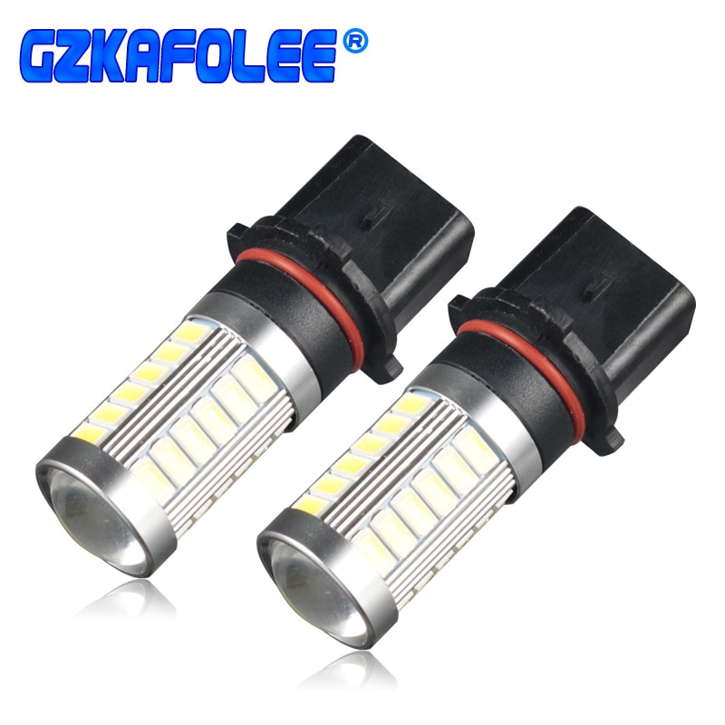 GZKAFOLEE 2 uds 6000K blanco 3000K amarillo coche LED P13W PSX26W bombillas para luz antiniebla para coche que conduce la fuente de luz de funcionamiento 12V 24V DC