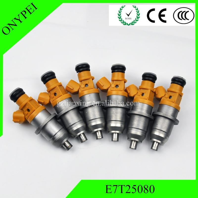 (6 pcs) E7T25080 E7T05080 MR560555 דלק Injector עבור מיצובישי פאג רו מונטרו שוגון V65 3.5 1465A013 1465A011 1465A012