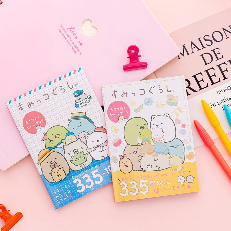 New 335 pcs/pack Kawaii Sumikko Gurashi Book Bullet Journal Decorative Stickers Scrapbooking Stick Label Diary Stationery Album