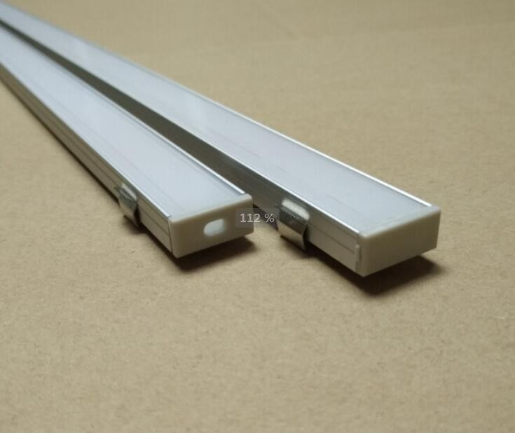 Envío gratis 2 m/unids 80 unids/lote perfil de aluminio LED súper delgado para tira led Barra de luces led tiendas estante iluminación LED longitud OEM