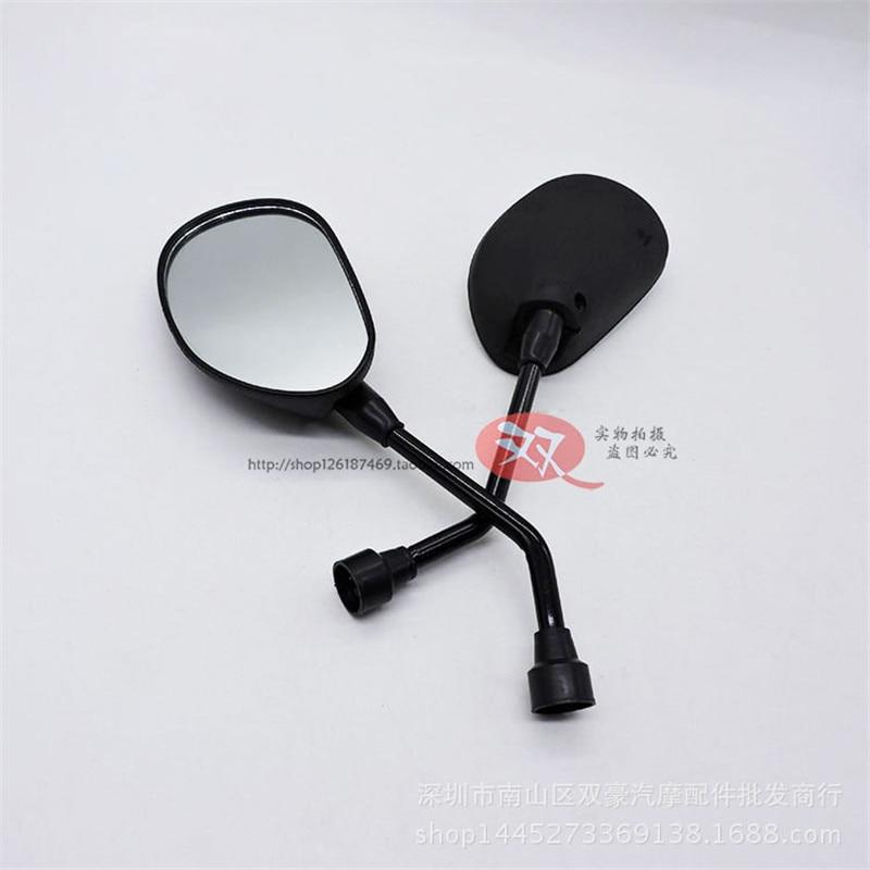 Espejo retrovisor de motocicleta negro universal, espejos convexos para yamaha honda suzuki dirtbike 8mm 10mm