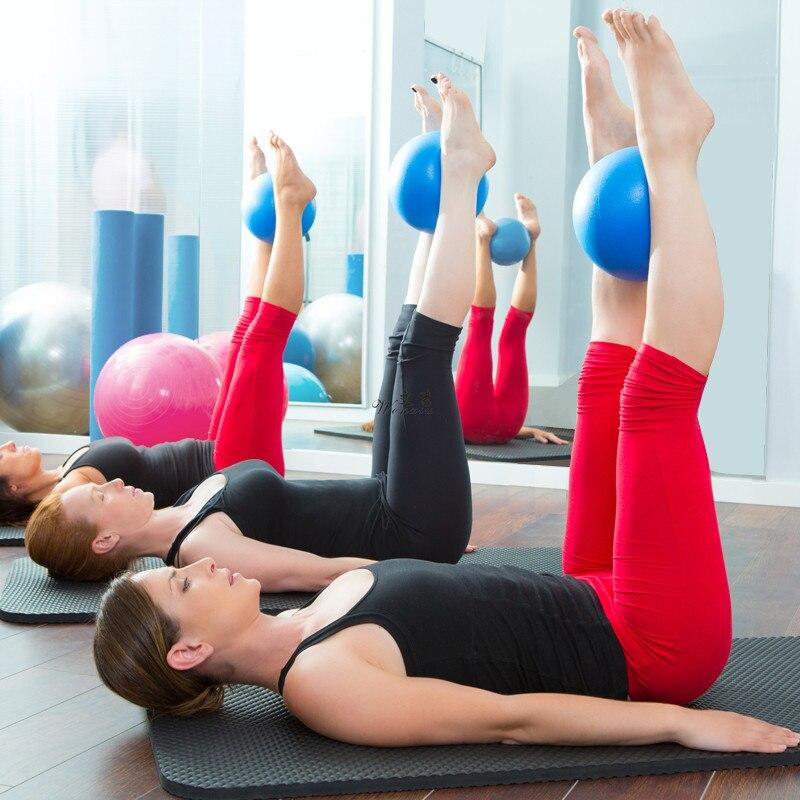 25 см фитнес пилатес мяч баланс взрывозащищенный ПВХ мяч для йоги упражнения тренажерный зал Йога Ядро Мяч тренировочный инструмент для помещений Crossfit