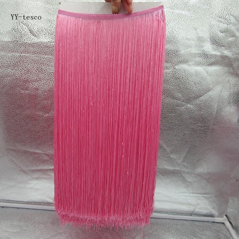 YY tesco 10 м/лот 50 см широкая кружевная бахрома отделка кисточка розовая Кружева для