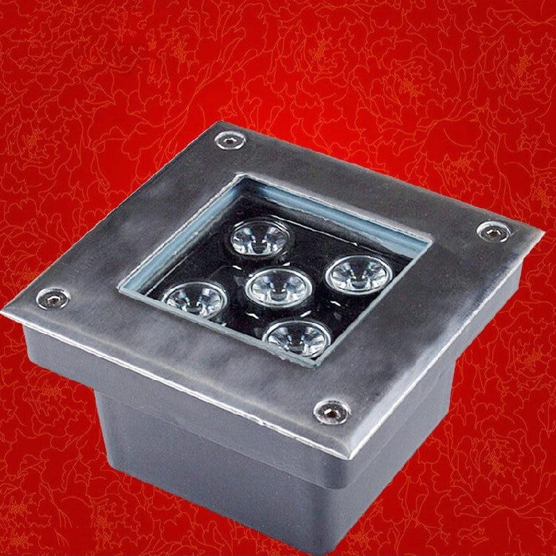 LED Underground Light 5*2W AC110V&220V Multi Color IP65 CE&Rohs approved Garden/Square/Stage/Bar floor lighting energy saving