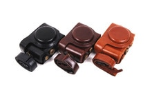 Leather Camera case bag for Sony Cyber-shot DSC-HX50 HX50V HX60 HX30