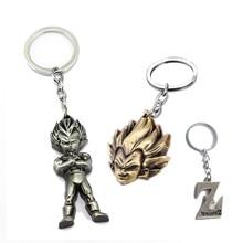 Anime Dragon Ball Keychain Son Goku Vegeta Trunks Key Ring Holder Metal Fashion Car Chaveiro Key Chain Pendant men Gift Jewelry