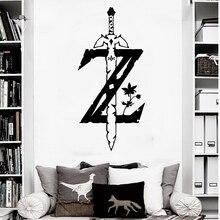 Autocollant mural de jeu de Zelda   Étiquette pour voiture et ordinateur portable, décoration de maison, pour chambre de garçon