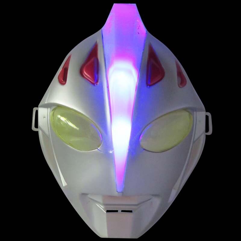 2020 venta como pasteles calientes 24cm * 18,5 cm * 9cm PVC Ultraman Jack máscara luminosa modelo regalos de vacaciones Halloween mascarada accesorios cosplay