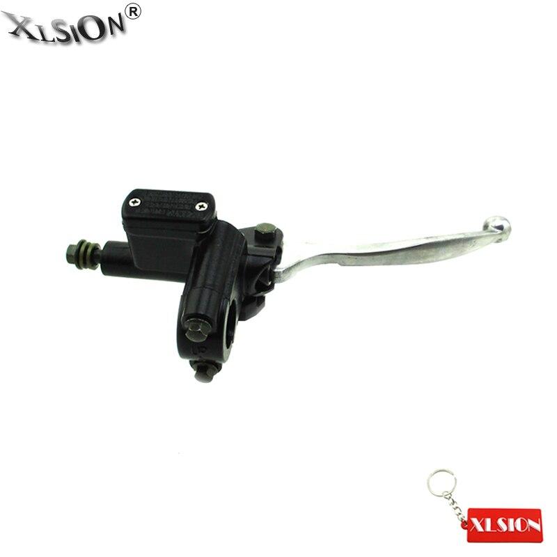 XLSION del mercado de 8mm Banjo frontal derecho cilindro maestro de freno hidráulico para Pit Dirt Bike ATV motocicleta tipo quad