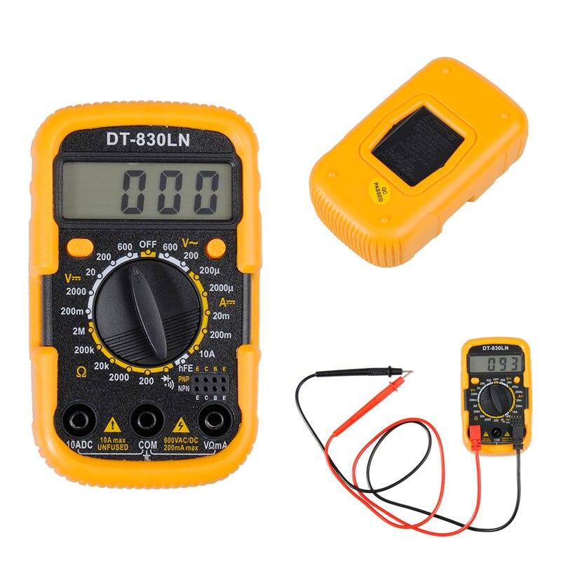 DT-830LN 3 1/2 Мини цифровой мультиметр AC/DC Амперметр ЖК-дисплей с подсветкой