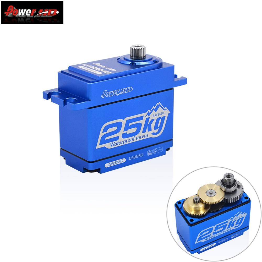 Power HD LW-25MG 25KG/0.14S Waterproof High Torque Metal Gear Standard Digital Servo for 1/8 1/10 scale RC Cars