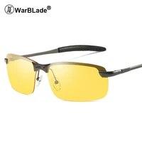 warblade hot mens aluminum magnesium car drivers night vision goggles anti glare polarizer sunglasses polarized driving glasses