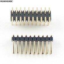 10Pcs 100Pcs 500Pcs Gold Plated Pitch 1.27mm Male 2x10 Pin 20 Pin Double Row SMT SMD Pin Header Strip
