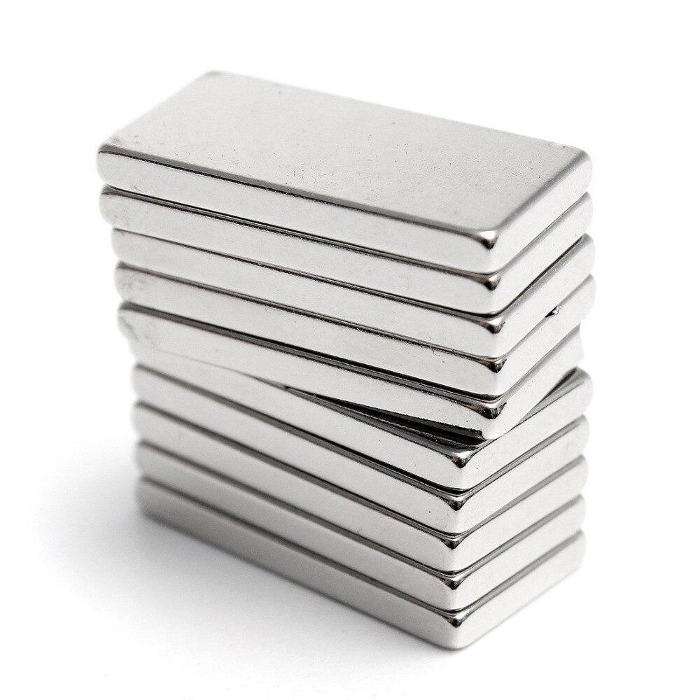 Супермощный неодимовый магнит, 5 шт., редкоземельные магниты N35 20x10x2 мм