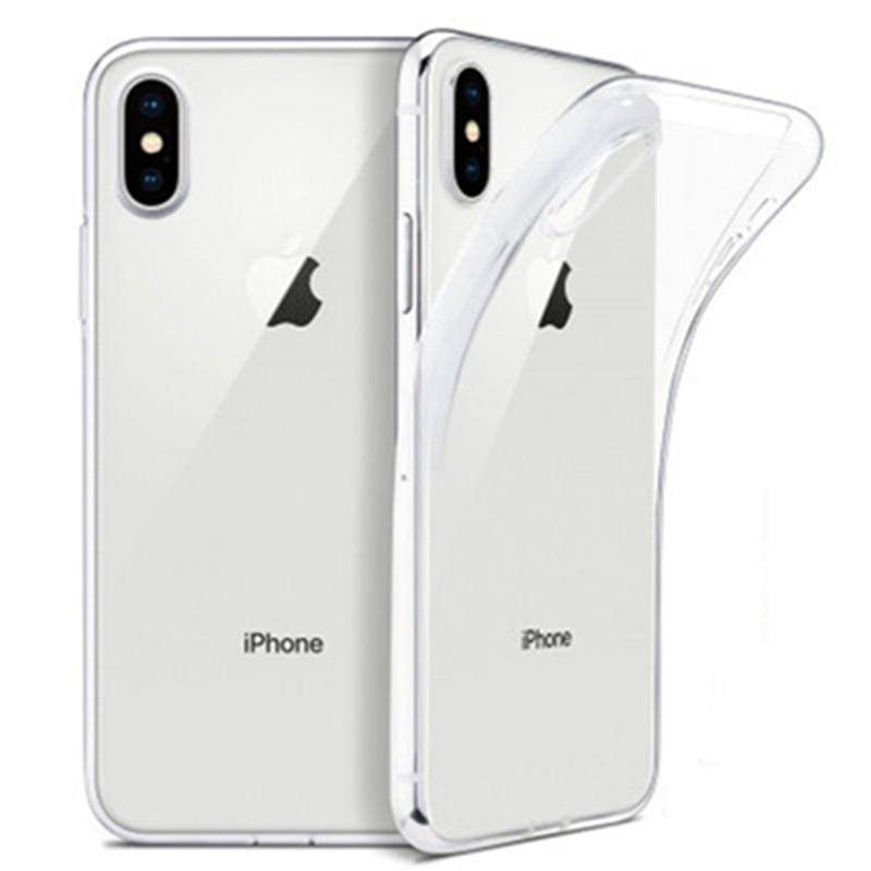 IPhone X XS 8 7 6 5S Plus केस ट्रांसपेरेंट के लिए अल्ट्रा थिन क्लियर सॉफ्ट TPU केस iPhone 11 12 प्रो मैक्स XR 2 2 केस के लिए पारदर्शी