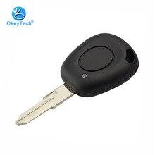 OkeyTech coque pour clé de voiture   Bouton 1 pour Renault Megane Scenic Laguna Espace Twingo Clio clé de voiture à distance, coque VAC102 lame vierge non coupée