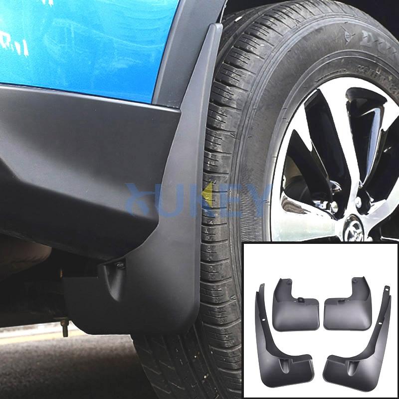 Set Molded Car Mud Flaps For Facelifted Toyota RAV4 2016 2017 2018 Mudflaps Splash Guards Mud Flap Mudguards Fender Accessories