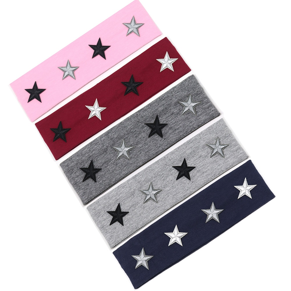 Nueva diadema de estrella de verano para niños y niñas, diademas de estrellas DIY para niñas, accesorios para el cabello de banda plana de algodón a la moda