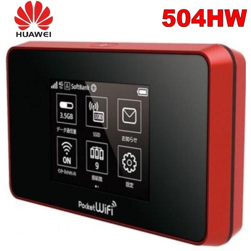 Разблокированный huawei 4g wifi роутер Портативный 4g Карманный WiFi 504HW 4g mifi роутер с sim-картой wifi мобильный 4G LTE Cat6 мобильный Hotspot