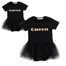 Pudcoco Newborn Infant Baby Girls Clothes Summer Queen Body Baby Girl Bodysuit Short Sleeve Mesh Princess Girls Be Bodysuits