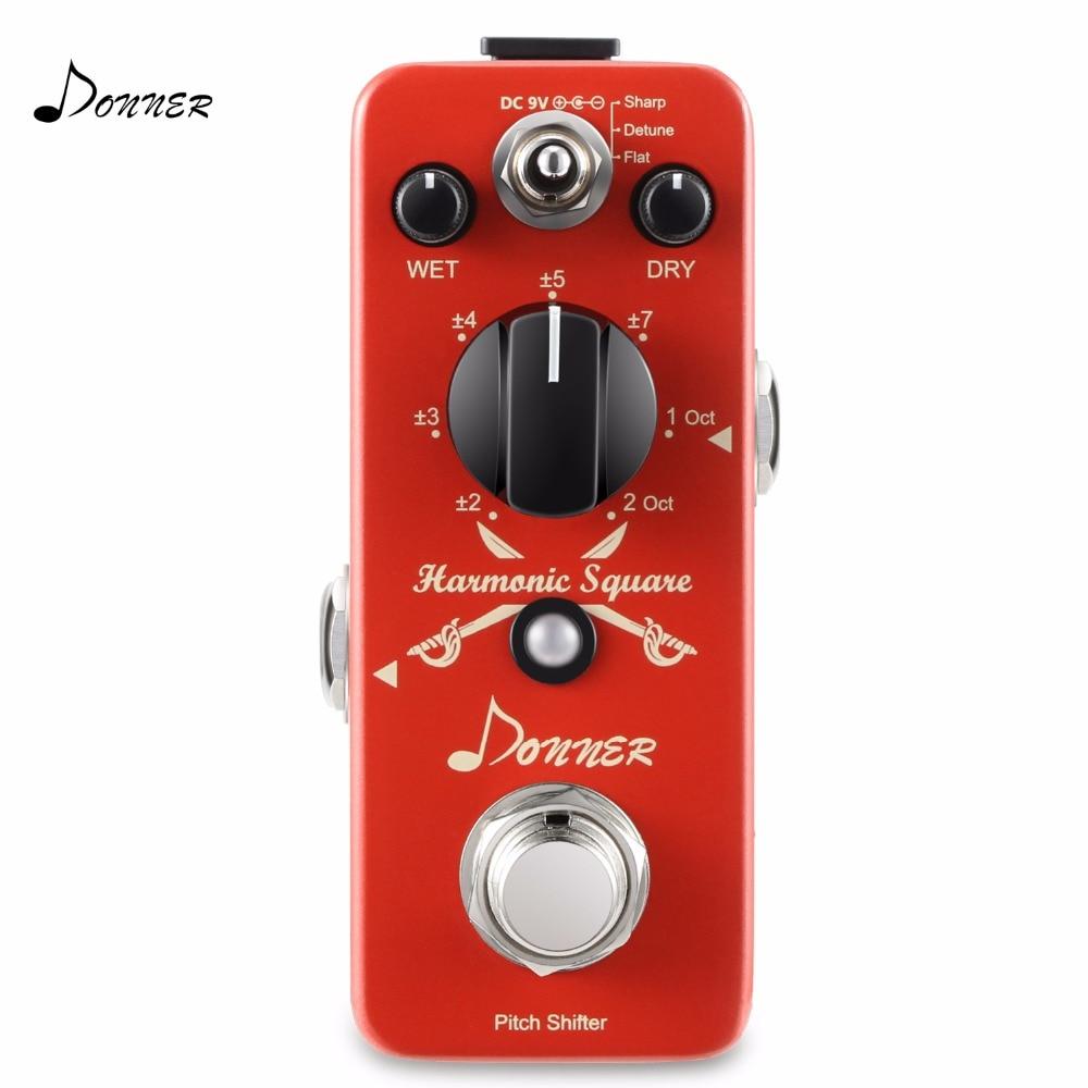 Donner Digital Octave Guitar Effect Pedal Harmonic Square 7 modes Guitar Part Accessories