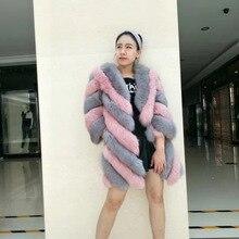2018 winter long sleeves faux fur coats fashion design Korean style sweet office lady outwears jackets Faux-fur-coat