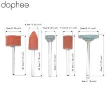 Dophee Dremel accessoires 3mm tige meule tête pour bricolage meulage/polissage bois/Mental/moule électrique Mini broyeur 5 pièces