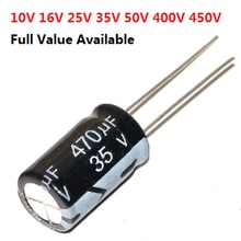 20pcs 50V Aluminum electrolytic capacitor 50V 0.47UF 1UF 2.2UF 3.3UF 4.7UF 10UF 22UF 33UF 47UF 100UF 220UF 330UF 470UF 0.47/2.2
