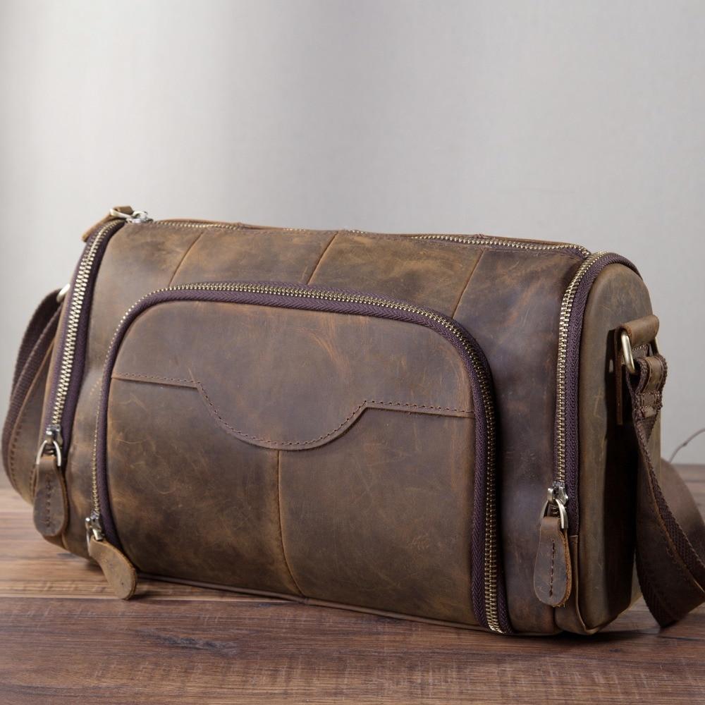 حقيبة كتف جلدية للرجال ، حقيبة كتف ، كاجوال ، عصرية ، للطلاب ، b258