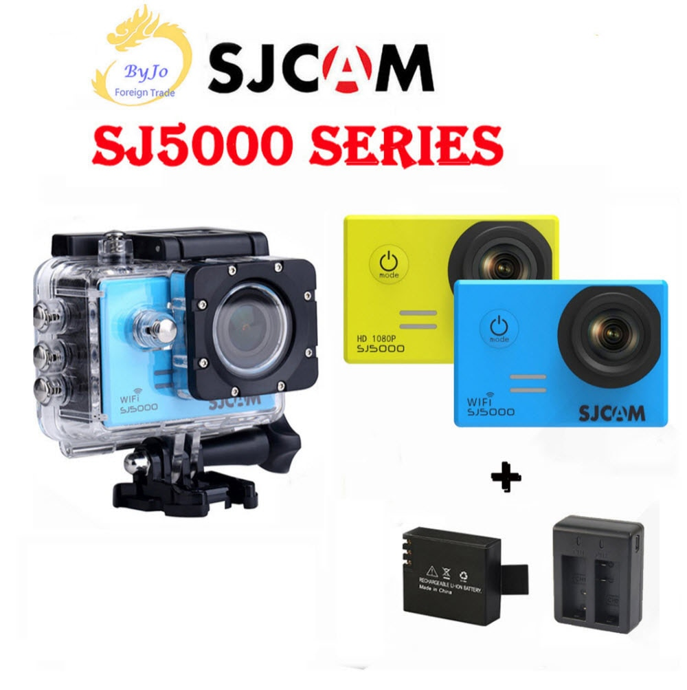 SJCAM SJ5000 Series-كاميرا رياضية مقاومة للماء ، 4K DV HD 2.0 بوصة SJ5000 WIFI SJ5000X Elite