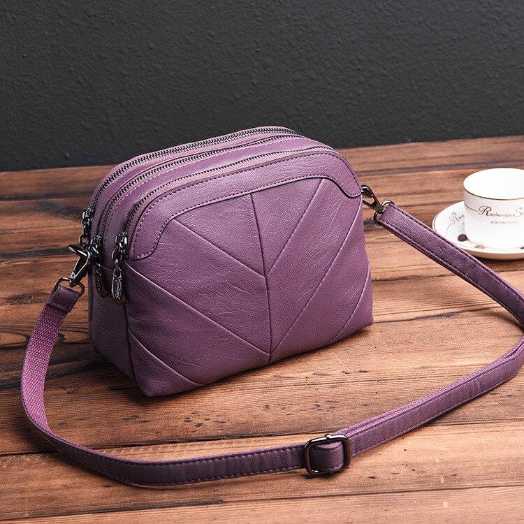 Neue Patchwork frauen Aus Echtem Leder Handtaschen Kleine Schulter Umhängetaschen Für Frauen Messenger Taschen Bolsas Feminina