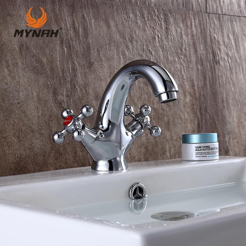¡Envío gratis! grifo de lavabo de estilo moderno y clásico de mynon Russia, grifo de baño con tornillo pulido, interruptor de doble manija M1061