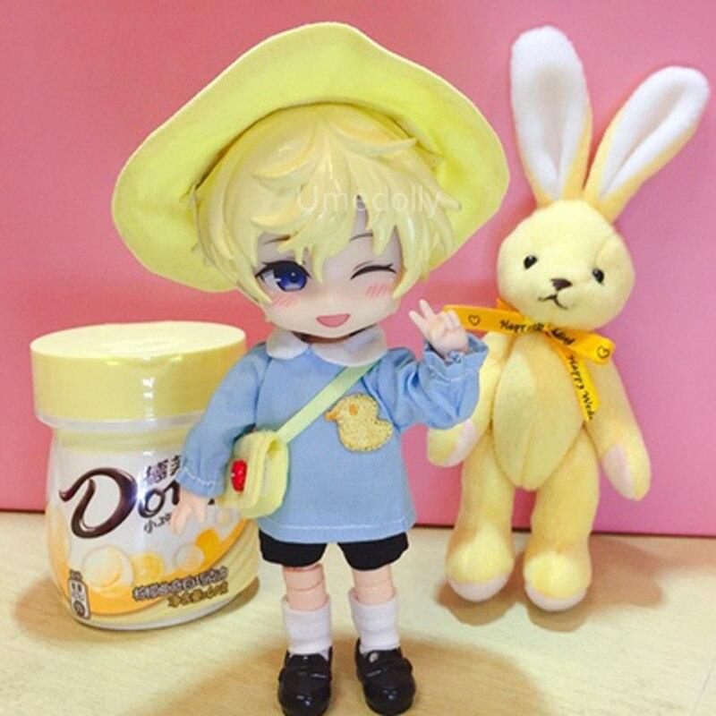 1 Set Cute Kindergarten School Uniform Suit for Obitsu 11, OB11, 1/12 BJD Doll Clothes Accessories