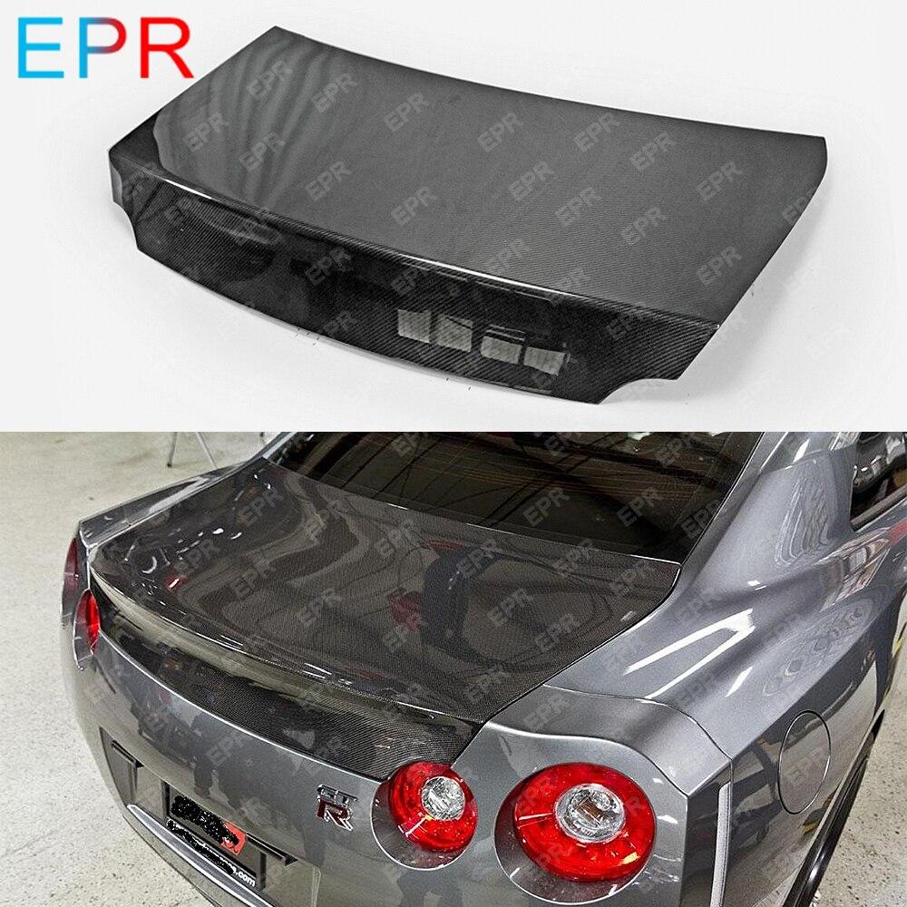 For Nissan R35 GTR Carbon Fiber Rear Trunk Body Kit Car Styling Auto Tuning Part For GTR R35 OEM Rear Trunk