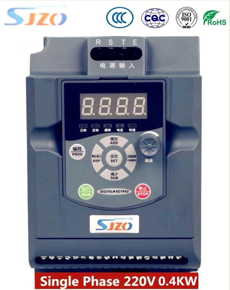 Convertidor de frecuencia Simple Original SIZO 0.4KW 220V 1 entrada de fase protección del medio ambiente precisión VFD convertidor de frecuencia