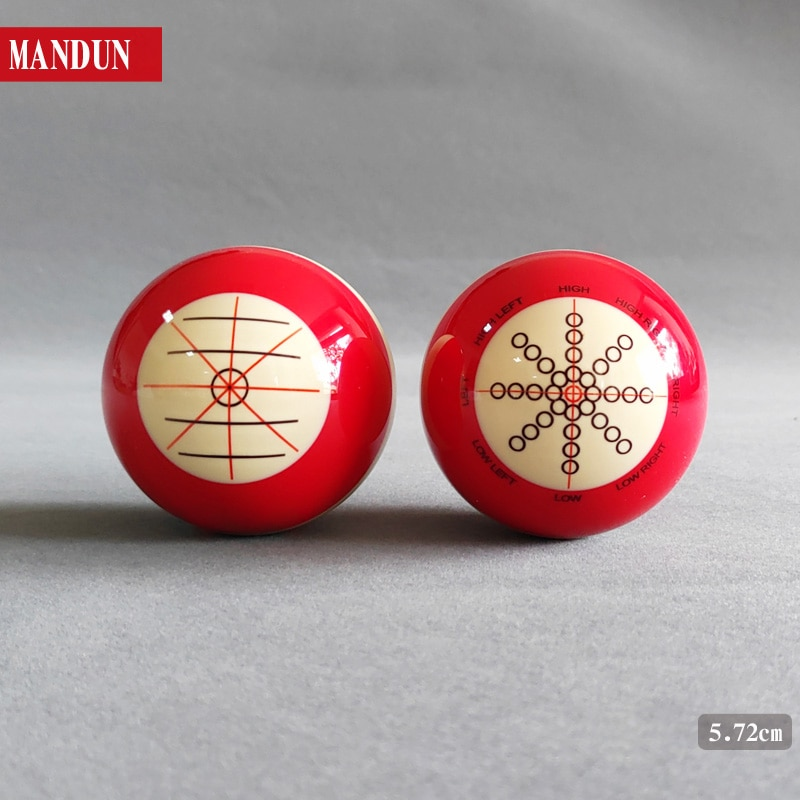 Excellent Billiard Large Red and White Cue Ball Smooth Durable Professional Training Ball Billiards Accessories