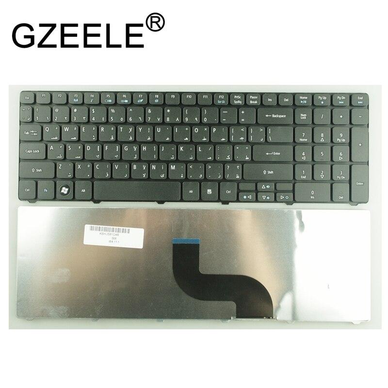 Árabe AR teclado para Packard Bell MS2290 TM81 TK37 TK81 TK83 TK85 TX86 TK87 TM05 AR repalce Teclados