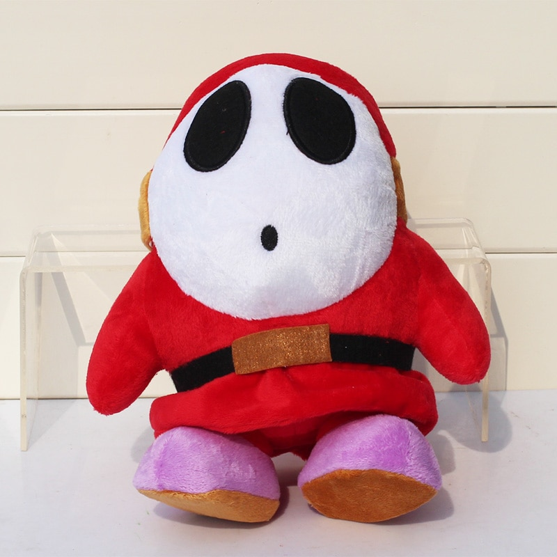 1 stücke 23 cm Super Mario Bros Plüsch Strewberry Shy Guy Plüsch Spielzeug Baby Puppen Weiche Angefüllte Großes Geschenk