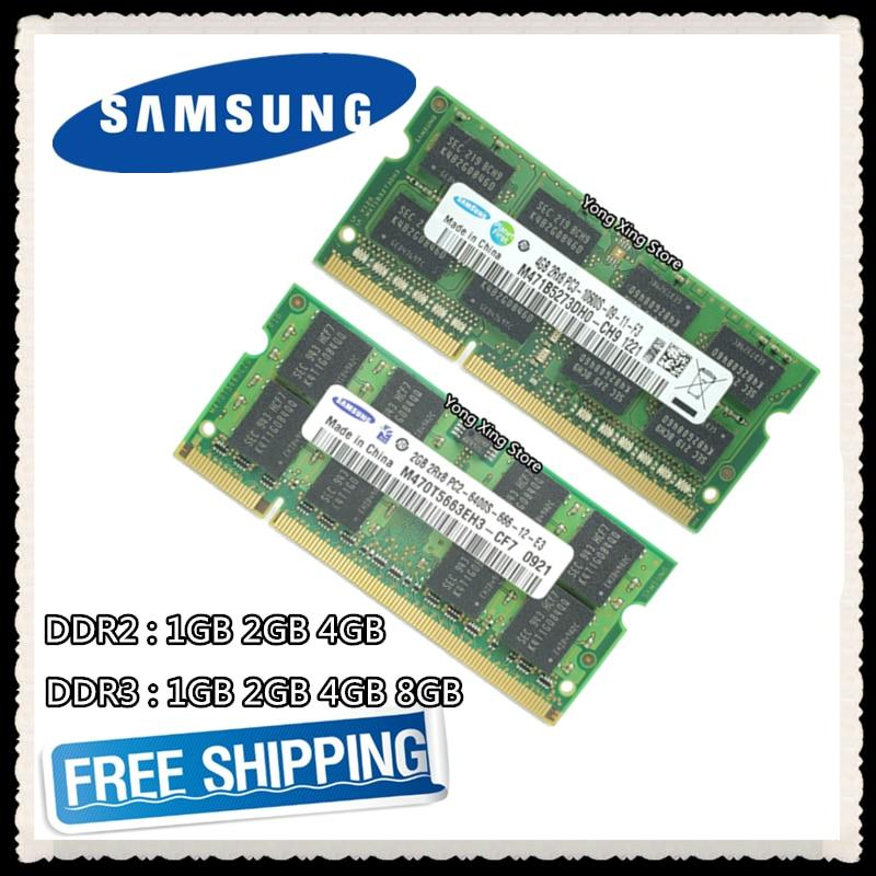 Samsung DDR2 1GB 2GB DDR3 4GB 8GB PC2 PC3 533, 667, 800,...