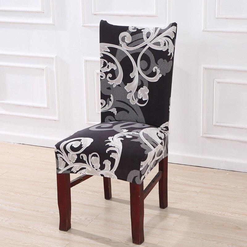 Floral Druck Stretch Elastische Stuhl Abdeckungen Spandex Für Hochzeit Esszimmer Büro Bankett housse de chaise stuhl abdeckung
