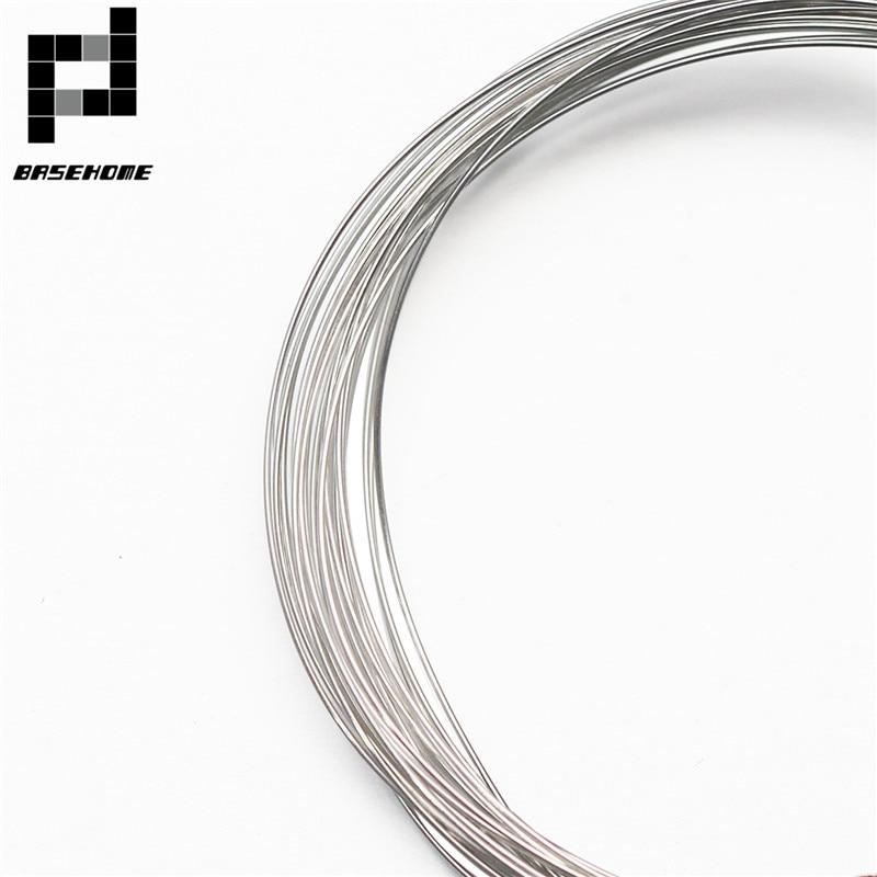 Шнур BASEHOME из серебра 925 пробы, проволока из чистого серебра 0,3/0,4/0,6/0,8/1 мм, ширина, для самостоятельного изготовления ювелирных изделий
