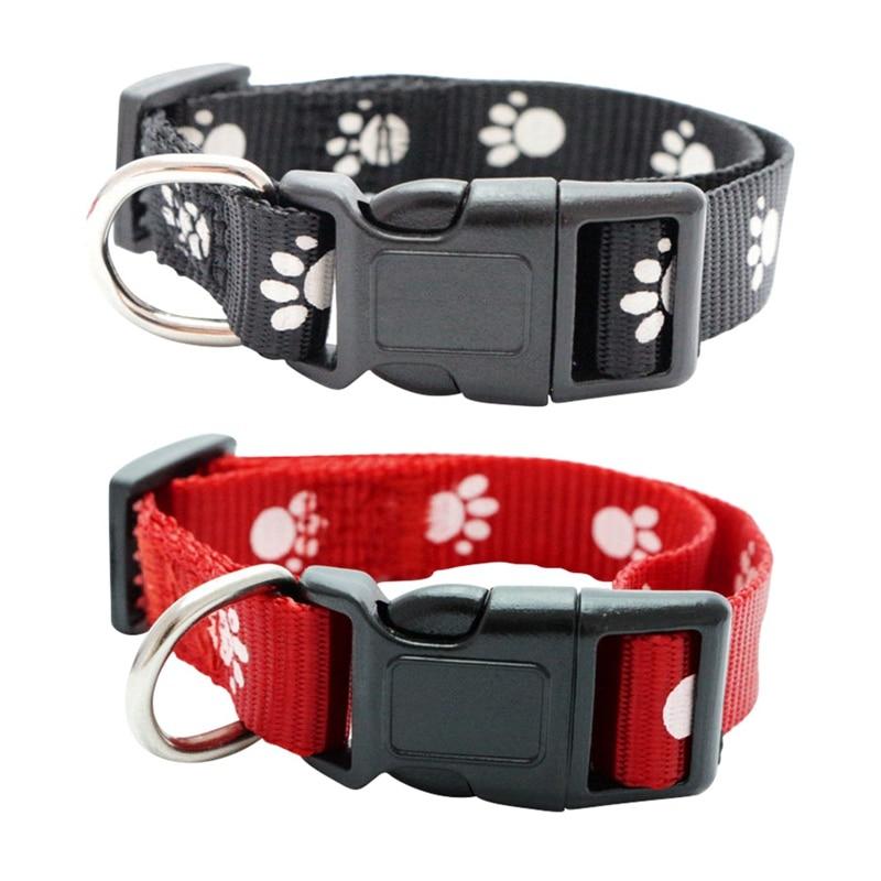 Safety Adjustable Dog Cat Control Anti Fleas Ticks Mosquitoes Collar Nylon Neck Strap Random Color