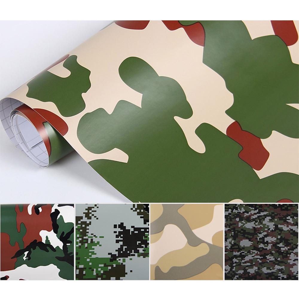 152x20cm Camouflage Vinyl PVC Car Sticker Wrap Film Digital Woodland Army Military Green Camo Desert Decal For Auto Motorcycle